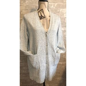 COS speckled button up cardigan